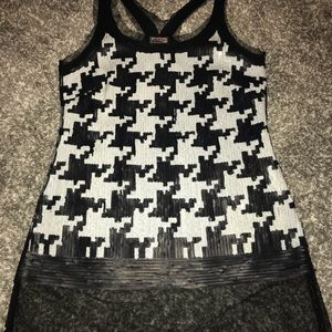 Yoana Baraschi Black and White sequent & mesh top